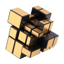 Magic Cube NEW 3x3x3 Compact and portable Mirror Blocks Silver Shiny Puzzle Brain Teaser IQ Kid Funny Worldwide Great gift цена