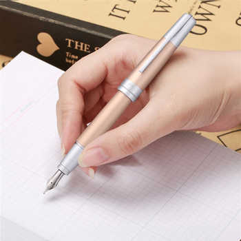 Picasso 961 Simmel Gate Bridge Aluminum Super Smooth Fountain Pen & Gift Box Iridium F Nib Writing Gift Set for Business Office