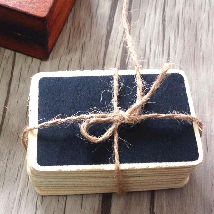 10pcs/lot Kawaii Vintage Students' DIY Tools Mini Blank Wooden Cards Wood Blackboard Bookmarks Office School Supplies