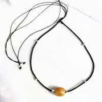 100 Natural Stone Gold Rutilated Quartz Golden Hair Crystal 925 Sterling Silver 2 Way Necklace Bracelet