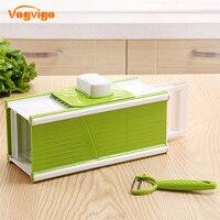 VOGVIGO Kitchen Set 5 In1 Multi Mandoline Vegetable Slicer Grater Potato Carrot Dicer Salad Maker With