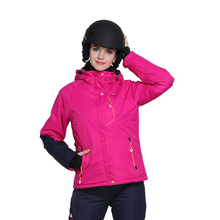15b2a09c041ea Profesional térmica de invierno chaqueta de esquí largo manga abrigo de  esquí de las mujeres abrigos Super resistente al agua a .