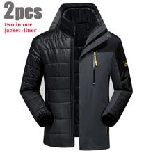 5XL 6XL Winterjacke Männer/Frauen Wintermantel Wasserdicht Dicke Warme Parka Marke-Kleidung Jacke + Liner 2 STÜCKE Windjacke Männer CF004