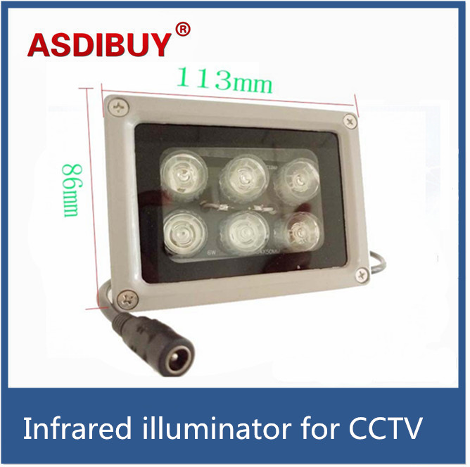 High quality 50M IR distance 6pcs IR Illuminator Array Leds Night-vision Fill Light for CCTV security Camera the quality of accreditation standards for distance learning
