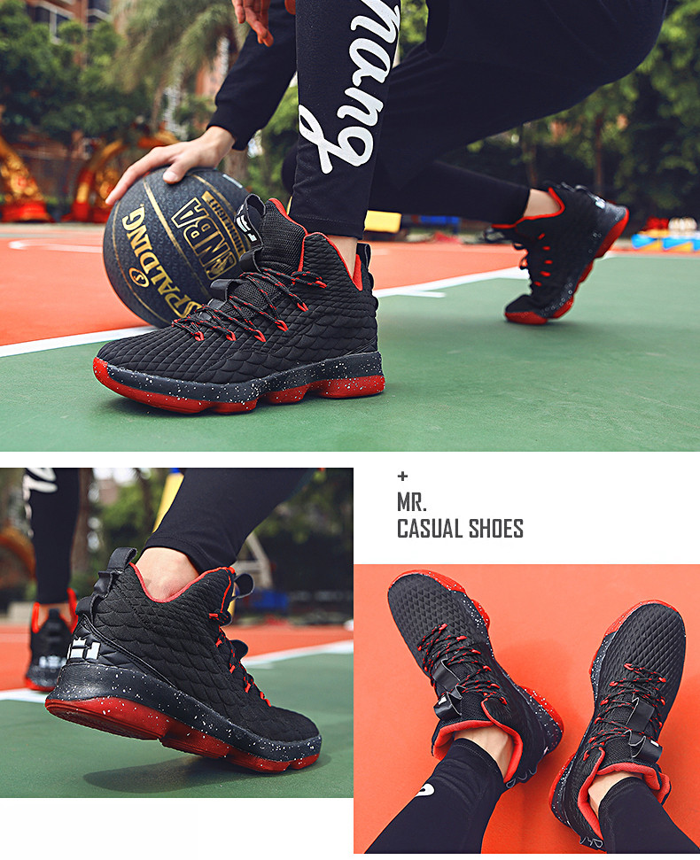 High-top Lebron Basketball Shoes Men Women Cushioning Breathable Basketball Sneakers Anti-skid Athletic Outdoor Man Sport Shoes (10)