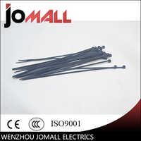 """100Pcs 3.6*200mm 8"""" Black Self-Locking Plastic Cable Zip Ties Cable Loop Ties"""