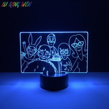 Bobs Burgers Baby Led Night Lamp for Kids Bedroom Decorative Usb Nightlight Dropshipping 2019 Cool Light Child