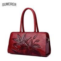 SUWERER 2019 новая женская сумка из натуральной кожи известных брендов роскошное модное тиснение из коровьей кожи кожаные женские сумочки сумки