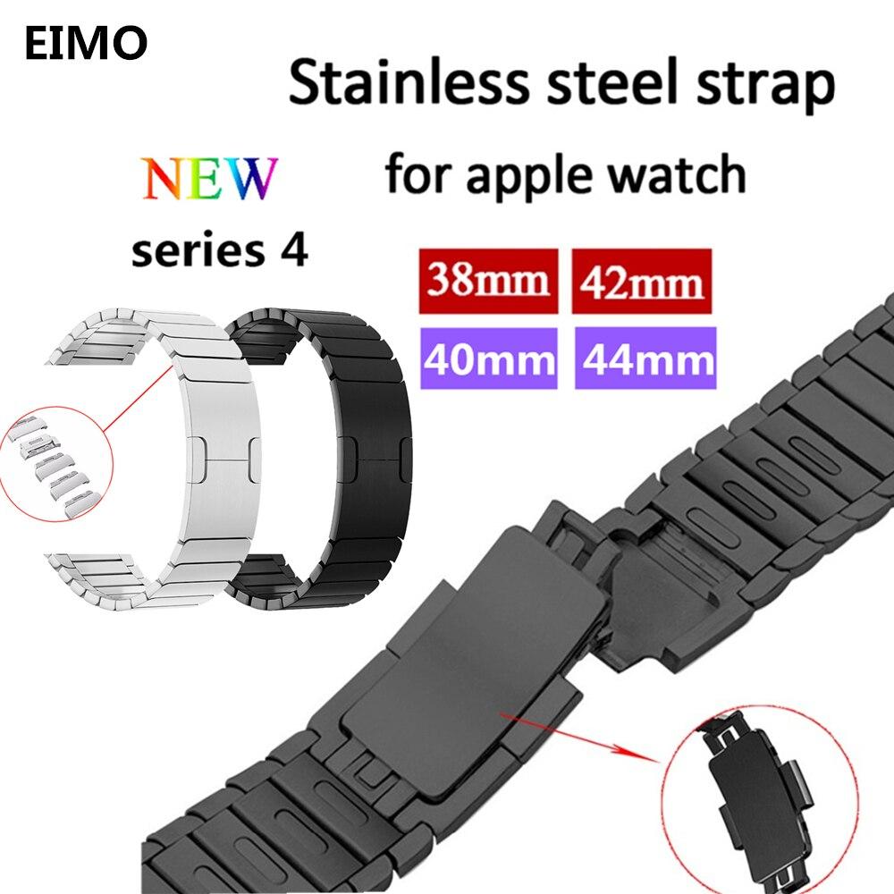e6111528872 Ligação faixa de relógio Pulseira strap Para Apple 44mm 40mm Aple relógio  correa 38 42mm Pulseira de aço inoxidável aço Correia De Pulso iwatch 4 3 2  1