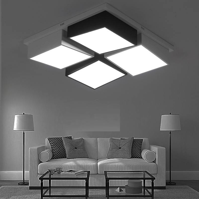 Ceiling light home furnishings simple modern rectangular hall lights room lights atmospheric personality master CL FG55 lo10 цена