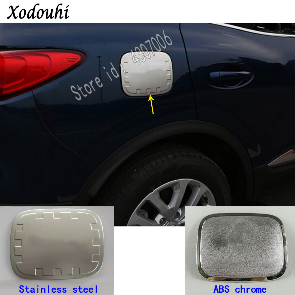 Stainless steel fuel tank cover oil gas cap trim For Subaru Outback 2015-2018