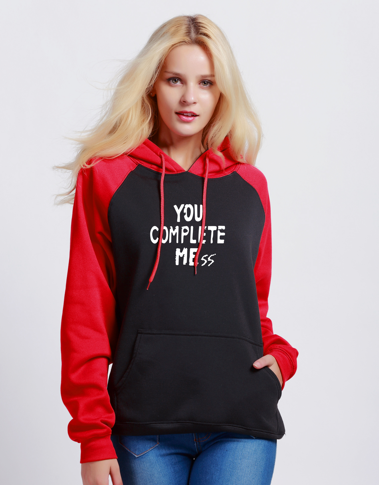 Letter Print YOU COMPLETE ME Womens Sportswear 2018 Autumn Fashion Hoody Winter Sweatshirt Brand Streetwear Harajuku Hoodies ...
