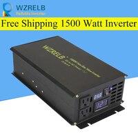 Peak Full Power 1500W Solar Inverter Pure Sine Wave Inverter Car Power Inverter 12V/24V to 120V/220V DC to AC Voltage Converter