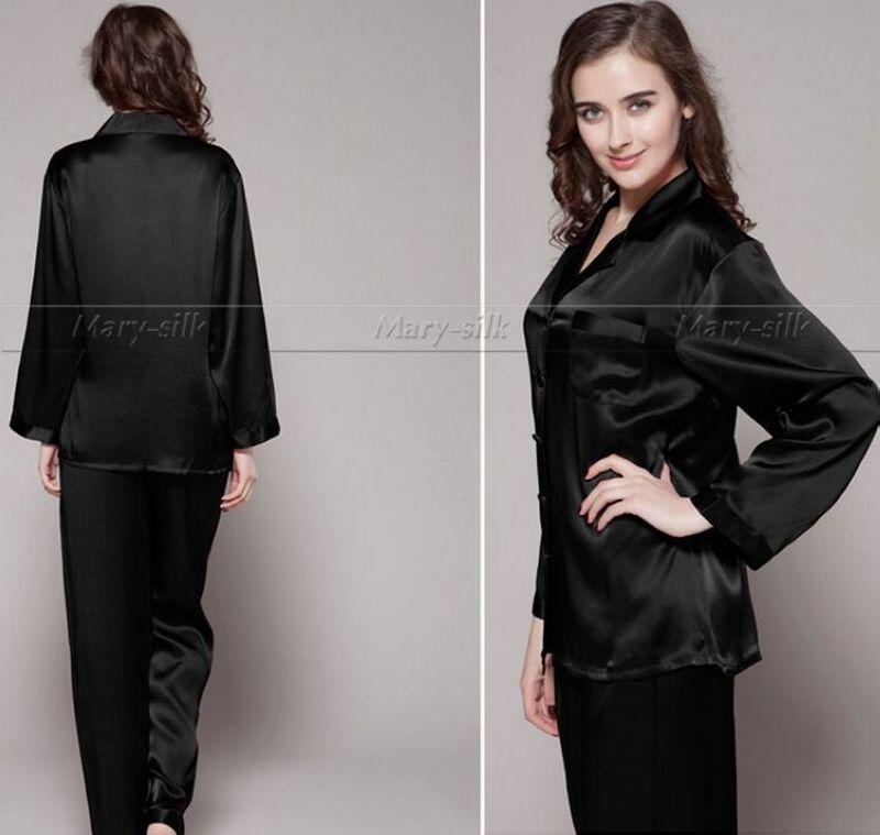 cbe5565f980 Womens Silk Satin Pajamas Set Pajama Pyjamas Set PJS Sleepwear Loungewear  S
