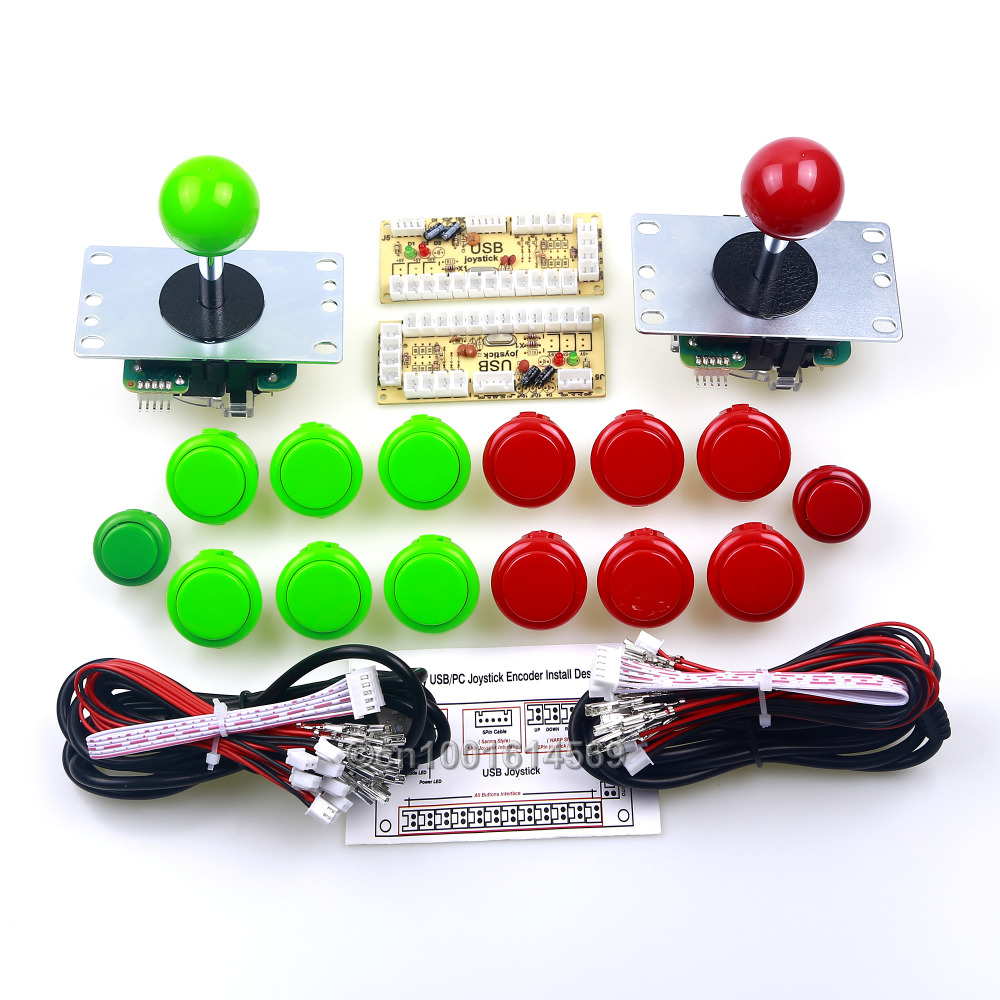 все цены на 12 X SANWA Push Buttons & 2 X China Push Button + Sanwa Arcade Joystick + USB Circuit Board For PC Game Controller USB Universal онлайн
