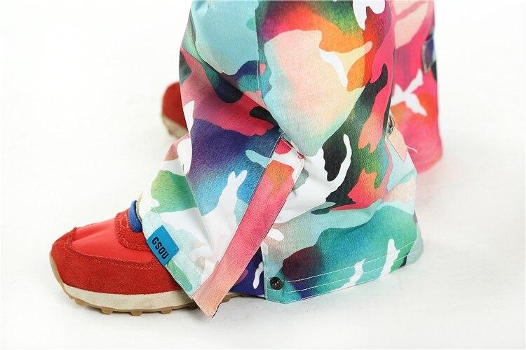 colorful ski pants