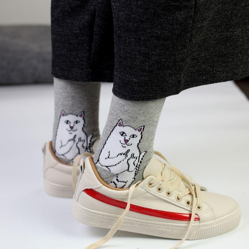Sphynx Cat Paws Pattern #4 Men-Women Adult Ankle Socks Crazy Novelty Socks