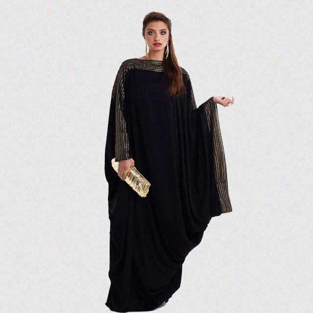 7d62ada9d688b US $29.75 38% OFF|Plus Size S~6XL Quality New Arab Elegant Loose Abaya  Kaftan Islamic Fashion Muslim Dress Arabic Design Women Black Dubai  Abaya-in ...