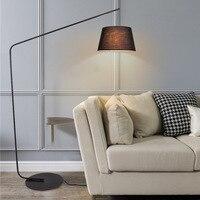 Nordic Black Fishing Flooring Light Simple Creative Model Room Floor Lamps for Living Room Sofa Bedroom Ground Standing Lamp