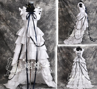 CHOBITS CHII ANIME COSPLAY LOLITA WOMENS Cosplay COSTUME Black And White Dress