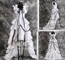 CHOBITS CHII COSPLAY DEL ANIME LOLITA MUJER cosplay Negro y vestido Blanco