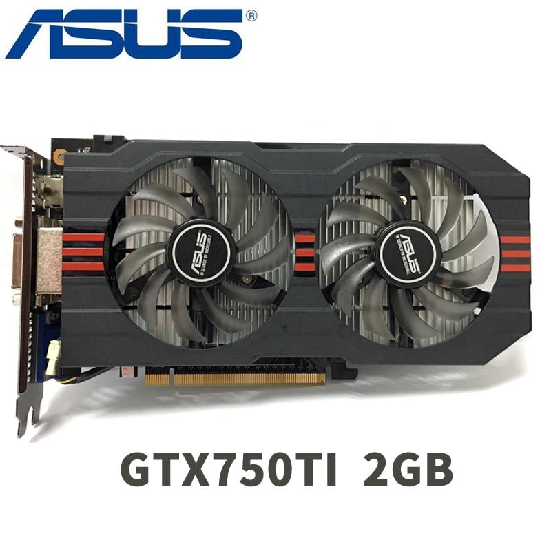 Asus GTX-750TI-OC-2GB GTX750TI GTX 750TI 2G D5 DDR5 128 Bit PC Desktop Graphics Cards PCI Express 3.0 computer Video card HDMI onda gtx750ti 2gd5 2g graphics card