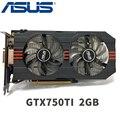 Asus GTX-750TI-OC-2GB GTX750TI GTX 750TI 2GB 128 Bit PC Desktop Graphics Cards PCI Express 3.0 computer Video card HDMI
