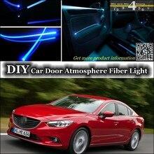 Для Mazda 6 MAZDA6 M6 MPS Atenza интерьер окружающего света настройки атмосферу Волокно оптическое Ленточные огни внутри двери Панель освещения