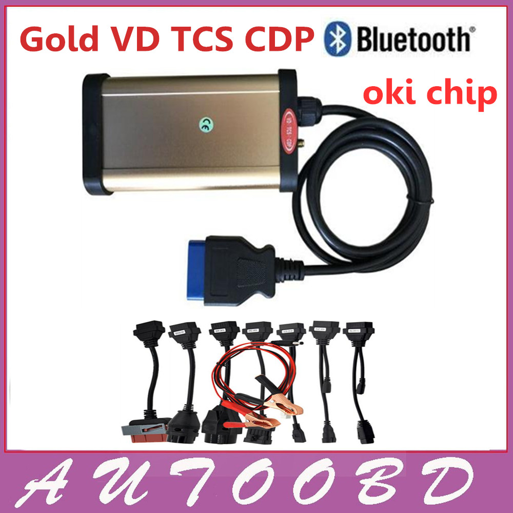 2013.3 R3 With bluetooth and OKI chip !! VD TCS CDP Pro with Keygen + Full set 8 car cables auto CAR+TRUCK diagnostic tools ! with bluetooth japen nec relay latest new vci vd tcs cdp pro bt obd2 obdii obd with best pcb chip green single board