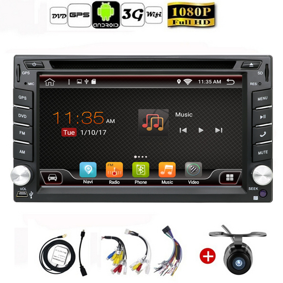 auto android 6 0 car audio gps navigation 2 din car stereo. Black Bedroom Furniture Sets. Home Design Ideas