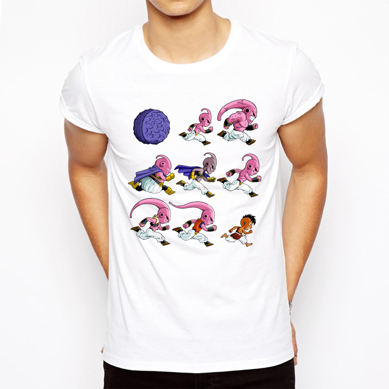 New Summer Dragon Ball T-Shirt Fashion Majin/Vegeta/Freeza/Cell evolutions print t-shirt Brand cartoon Shirt Comfortable Tops