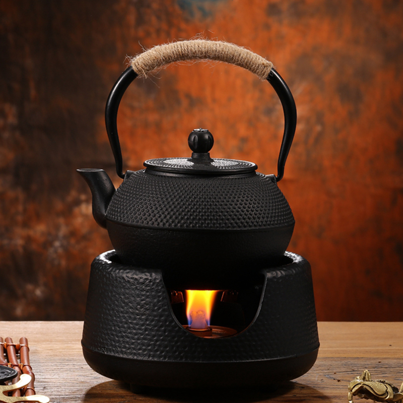 900ml 1200ml Japanese Style Uncoated Cast Iron Tea Pot Water Kettle With Stainless Steel Infuser Strainer Top Quality Drinkware in Teapots from Home Garden
