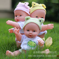 30 cm Silicone Renascer Baby Doll crianças Playmate Presente Lifelike Boneca Reborn Vinil Silicone Macio Bebê Recém-nascido Para A Menina