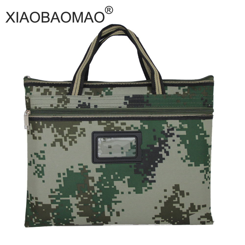 Military green a4 document bag double layered document file bag waterproof Business Document Bag Filing Meeting Bags 2017 1pc new commercial business tote document folder bag a4 filing bag meeting bag random 4 kinds delivery