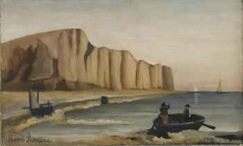 High quality Oil painting Canvas Reproductions Cliffs (1897) by Henri Rousseau painting hand painted