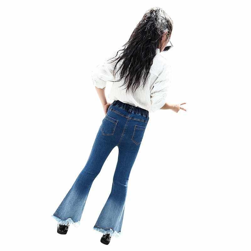 2018ขายร้อนเด็กสาวสบายๆกางเกงขายาวเด็กF Ringeระฆังบาง-กางเกงเสื้อผ้าเด็กแฟชั่นกางเกงเปลวไฟ