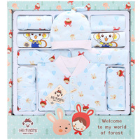 19 Pieces Newborn Clothes Set With Baby Blanket Spring Summer Baby Clothing Set Newborn Supplies Infant