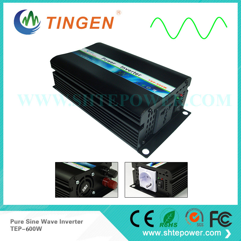 цена на Free Shipping Pure Sine Wave 600W Inverter TEP-600W,Off Grid Tie system DC 12V to AC 110V 220V 230V output 50Hz/60Hz
