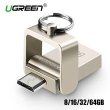 Ugreen USB Flash Drive 64GB Metal Pendrive High Speed USB Memory Stick 32GB pen Drive Real Capacity 16GB USB Flash U disk