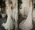 2017 Cap Sleeve Lace Wedding Dress Sexy Backless Mermaid Bridal Gown Vestido De Novia Custom Made Dress Bride New