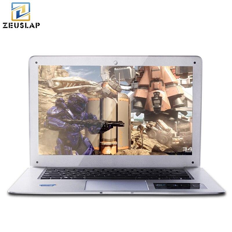 ZEUSLAP-A8 14 pouces 1920X1080 P FHD 8 GB RAM + 256 GB SSD + 1 TB HDD Windows 10 Système Ultra-Mince Double Disques Ordinateur Portable Ordinateur portable
