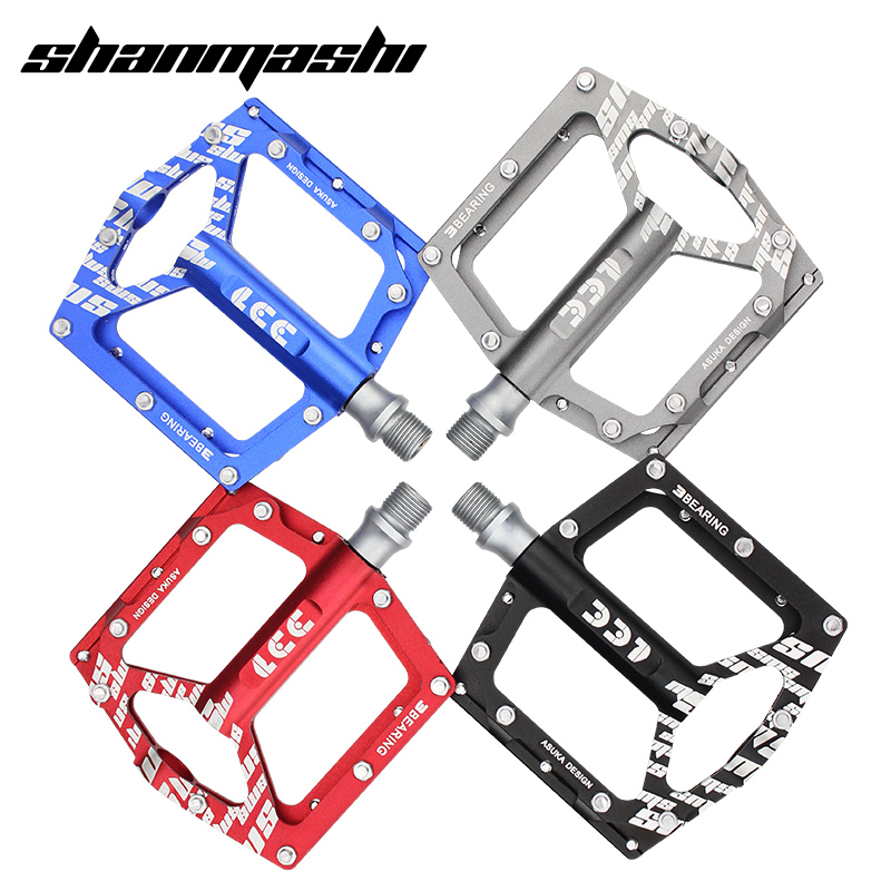 все цены на SMS Bicycle Pedals 6 Bearings Wide Non-slip Aviation Aluminum Alloy Bike Pedal Ultra-thin Lightweight MTB Pedal Cycling Parts онлайн