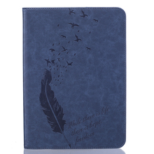 LUCKBUY embossed feather flying birds Protective PU Leather Tablet cases For samsung galaxy Tab S2 9.7 SM-T810 T815 9.7″ Covers