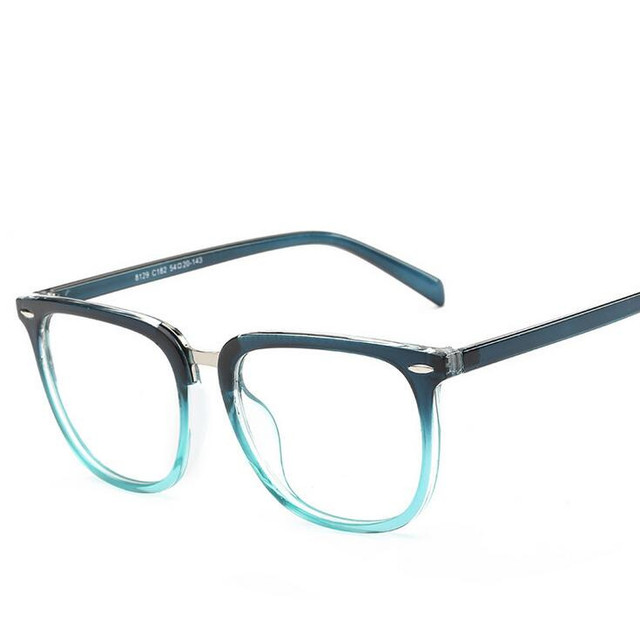 Eyeglasses Frame Women Men Transparent Lens Nerd glasses Plastic ...