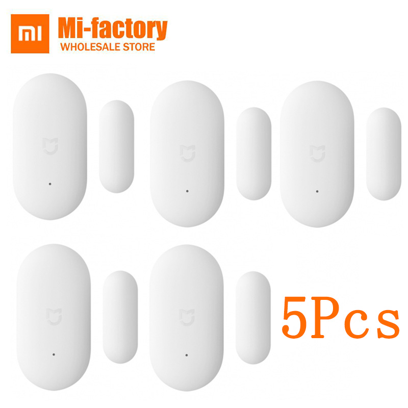 5PCS Original Intelligent Mini Mijia Xiaomi MI Door Window Sensor for Xiaomi Suite Device Smart Home Kits Remote Alarm System аксессуар чехол книжка для samsung galaxy a6 2018 wallet cover purple ef wa600cvegru