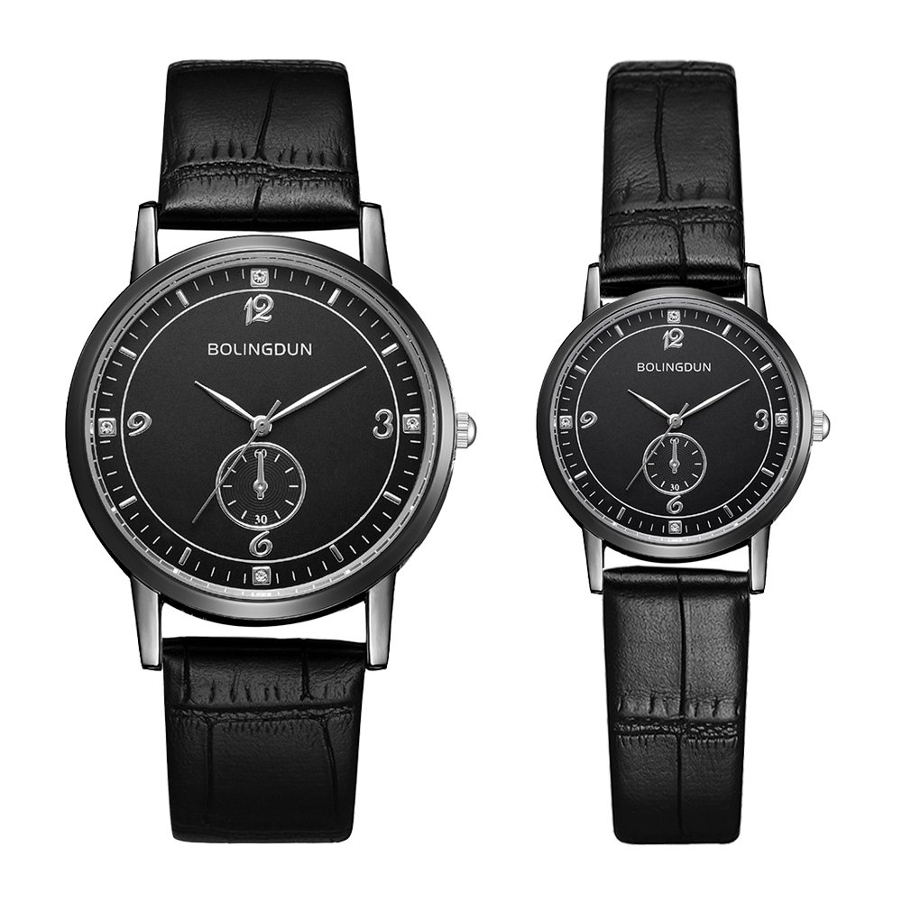 2 PCS Set Couple Watch Simple Leather Bracelet Wristwatch Women Fashion Watches Men Alloy Analog Quartz Clock Relogio Masculino