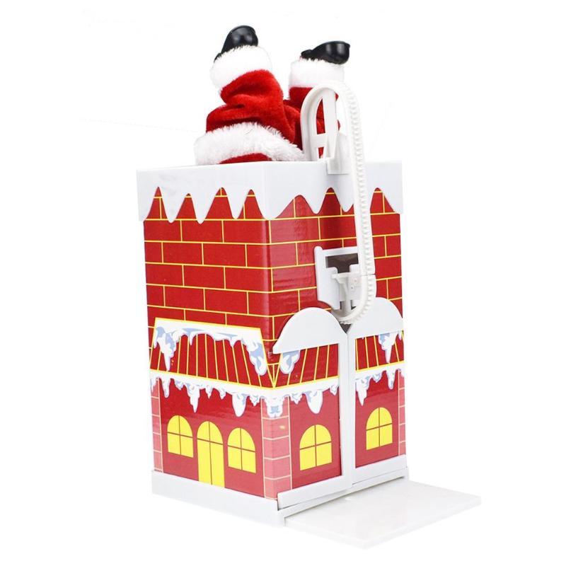 9c2c2bdbfa4 Christmas Electric Santa Claus Toy Climb Wall Chimney Music Dancing Doll  Xmas Gift Features  After installation