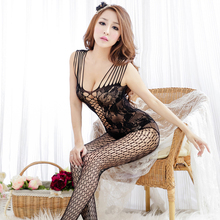Women Sexy Lingerie Hot Open Crotch Underwear Sex Costumes Mesh Fishnet Bodystocking Products Body Suit Erotic Exotic Apparel 48