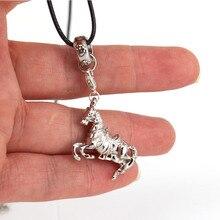 hzew 3D horse pendant necklace horse necklaces