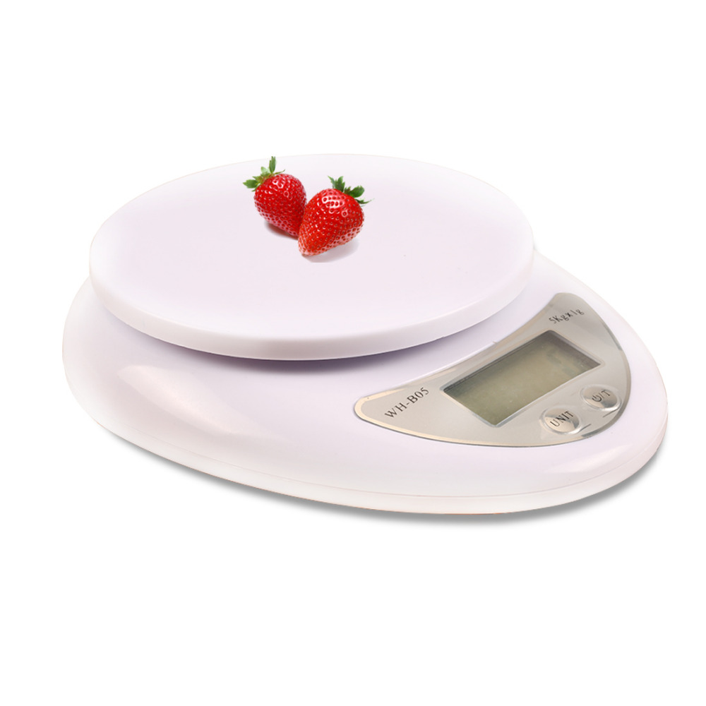 Food Diet scale 1pc Portable 5000g/1g Kitchen Digital Scale Balance Weight Weighting LED Electronic Kitchen Tool scale
